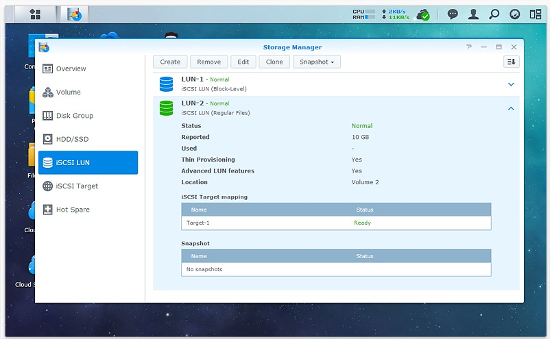 synology iscsi virtualization 4