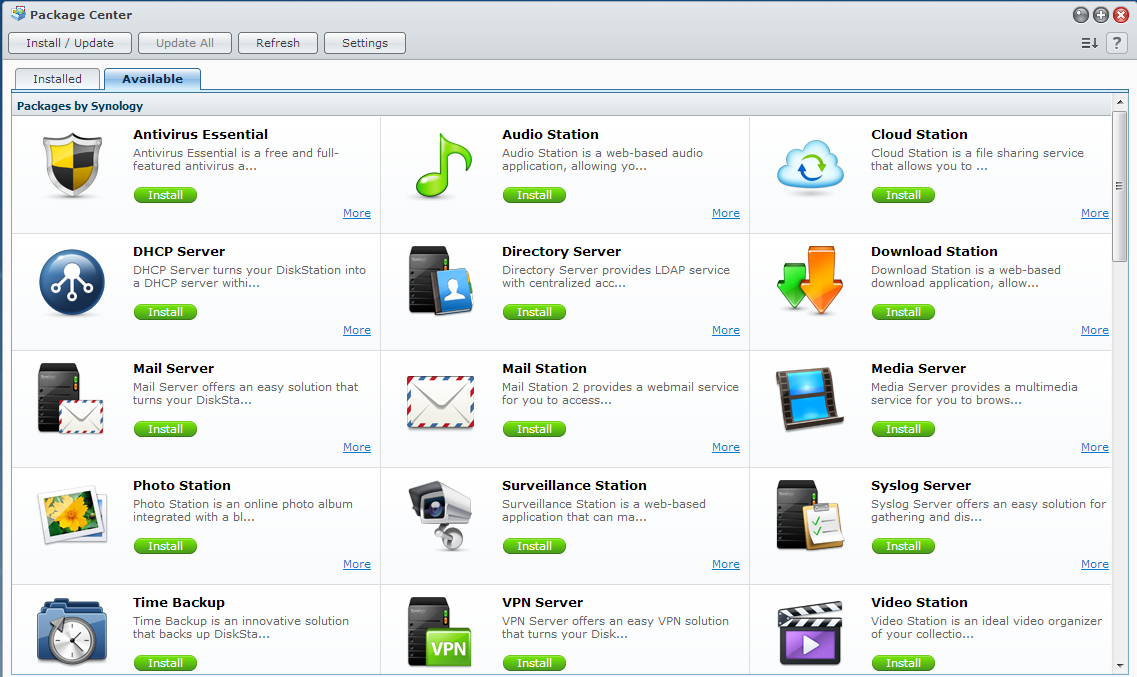 Synology Singapore - Synology Packages